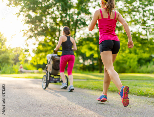 Poster Jogging active mother jogging