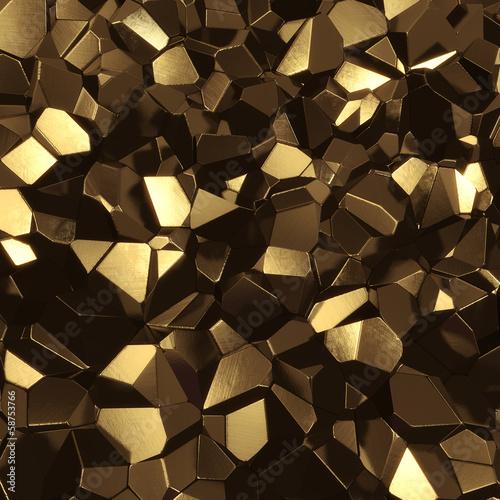 Abstract golden high tech geometric 3d background