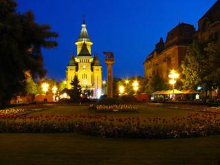 Fototapeta na wymiar Victory square, Timisoara
