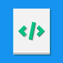 Vector Code Sheet Icon