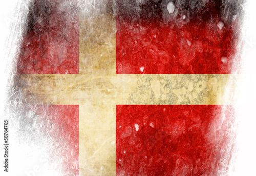 Danish flag Fototapete