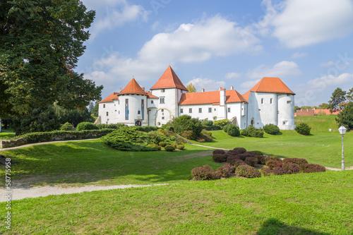 Foto auf AluDibond Stadt am Wasser Croatia. Castle of Varaždin62