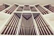 canvas print picture - The church organ closeup