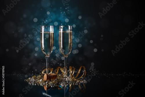 Fotografie, Obraz  Glasses of champagne
