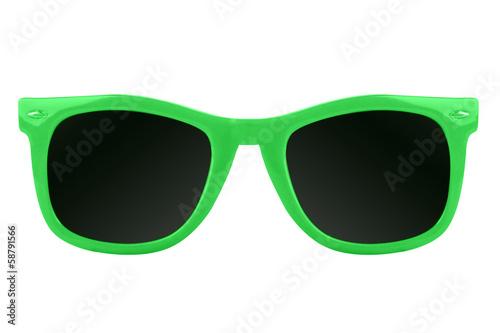 Women's green sunglasses
