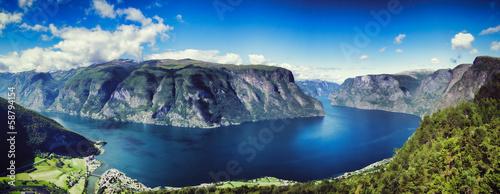 Printed kitchen splashbacks South Africa Aurlandfjord Panorama