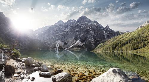 Fototapeta góry morskie-oko-w-gorach