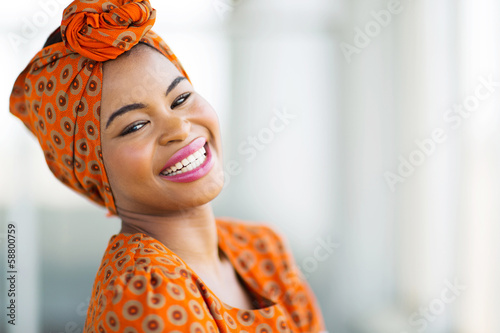 african woman wearing traditional attire