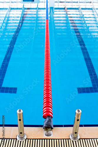 Lane ropes in swimming pool - Buy this stock photo and ...