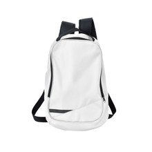 White Backpack Isolated With Path