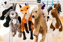 Plush Animals Hanging After Washing