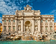 The Famous Trevi Fountain , Ro...