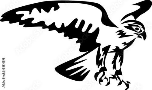 Photo  stylized falcon