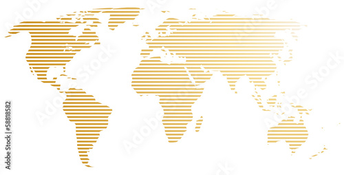 Fototapeta mapa paskowana-mapa-swiata