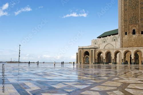 Fotografie, Obraz  Hassan II in Casablanca, Marokko