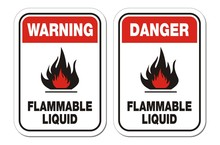 Warning And Danger Flammable L...