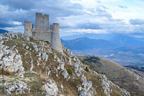 Canvas-taulu rocca calascio castle