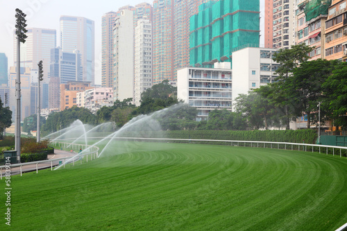 Photo  Happy Valley Racecourse in Hong Kong, China