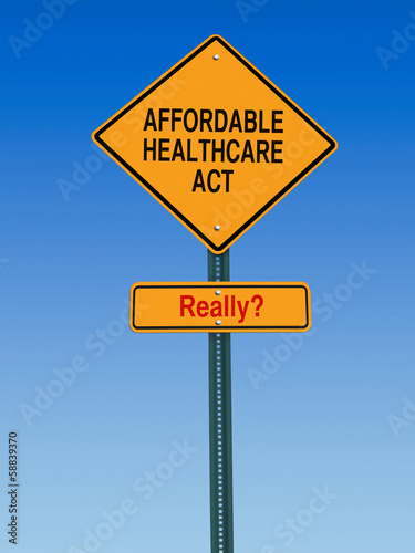 Fotografia, Obraz  affordable healthcare act really sign