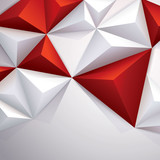 Red geometric background.