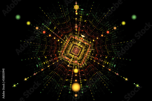 Particle collision fission Wallpaper Mural