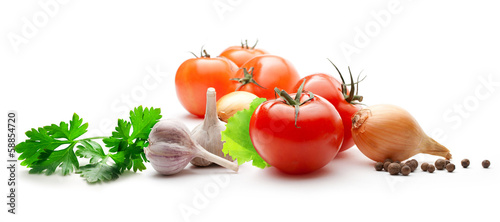 Poster Verse groenten Vegetable set