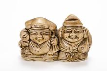 Hand Carved Daikoku And Ebisu ...