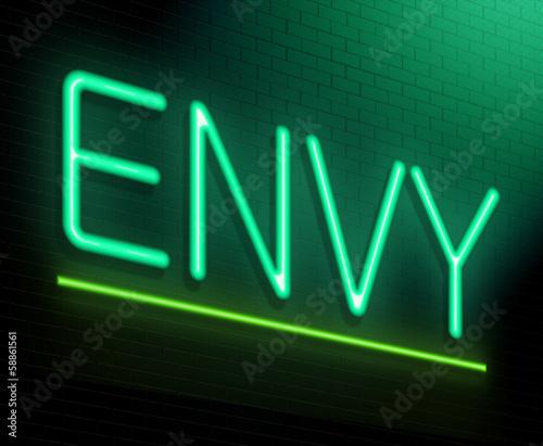 Fotografia Envy concept.