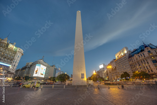Poster Buenos Aires The Obelisk (El Obelisco) in Buenos Aires.