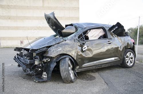 Fotografia Crash car