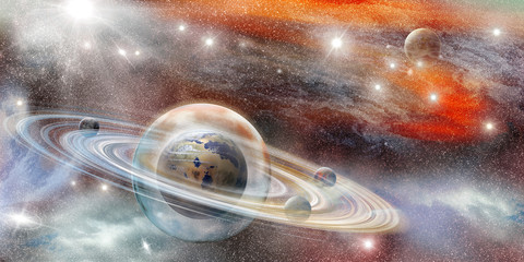 planet in a protective sphere