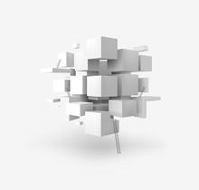 Vector 3D Geometric Cubes