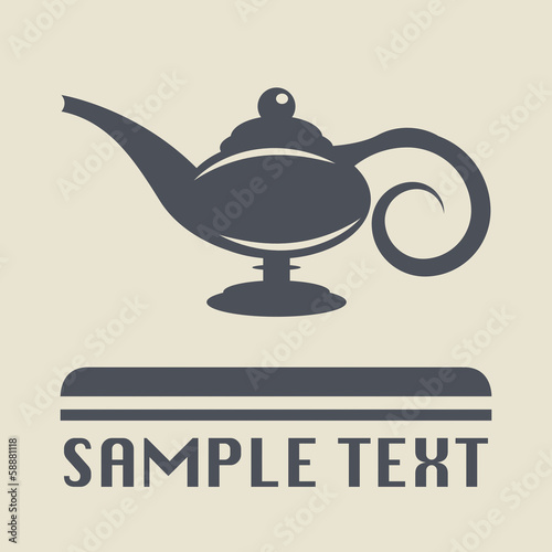 Fotografie, Obraz  Lamp Aladdin icon or sign, vector illustration