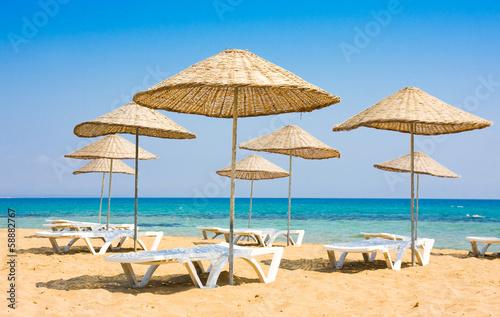 Foto op Canvas Cyprus Beach in Famagusta, Cyprus