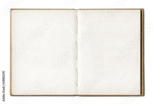 Fotografie, Obraz  Vintage blank open notebook