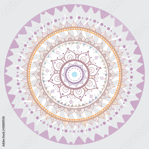 Photo Mandala. Indian decorative pattern.