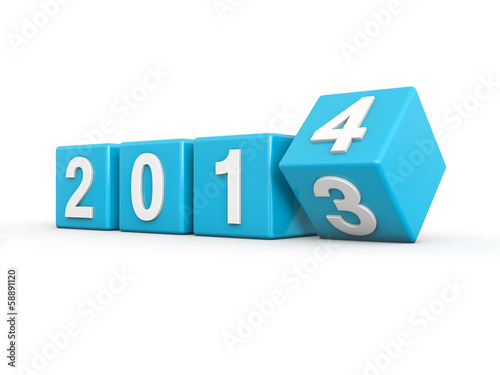Photo New year 2014 3d render