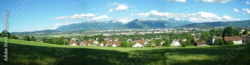 Fotomural vue panoramique d'Annecyen été