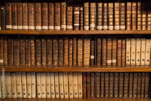 Fotografie, Obraz  Livres dans une bibliothèque
