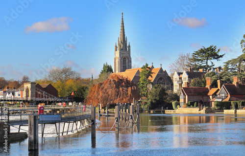 The River Thames at Marlow in England Wallpaper Mural