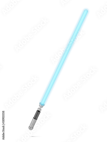 Blue lightsaber Canvas Print
