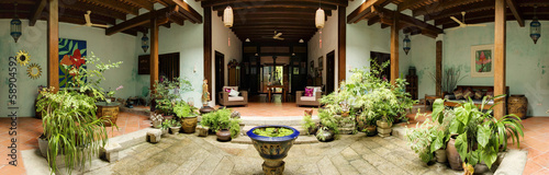Photo  Heritage House Interior Courtyard, George Town, Penang