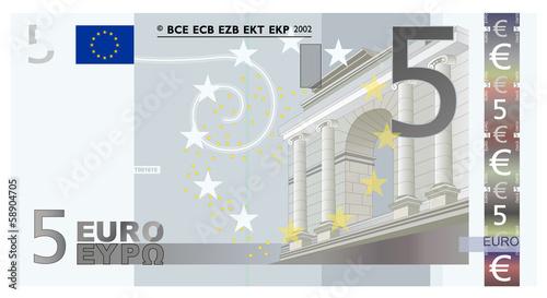 Photographie  Euro 5 Vector