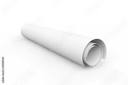 blank blueprint roll of paper buy this stock illustration and