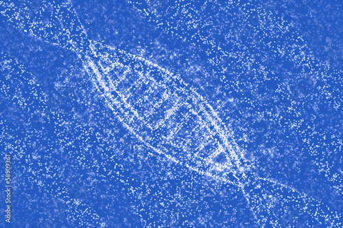 Aluminium Prints Macro photography DNA molecules of stars