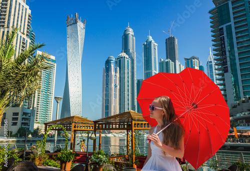 Recess Fitting Dubai High rise buildings and streets in Dubai, UAE