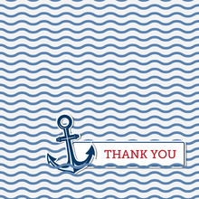 Thank You Greeting Card With A...