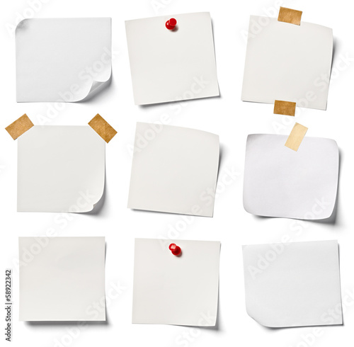 Fotografie, Obraz  white note paper office business