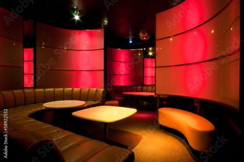 Canvas Print Picture of nightclub interior
