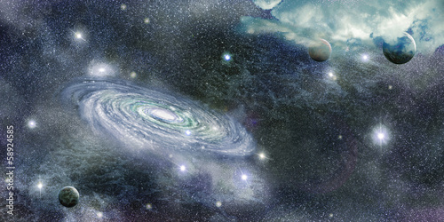 Fototapety, obrazy: galaxy in space and planets